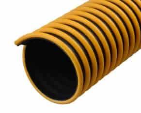 EH Absaugschlauch - Leichter, gut sichtbarer und äußerst beweglicher Abgasschlauch, hergestellt aus thermoplastischem Santroprene mit einer Verstärkungsschicht aus Polyester, mit Kunststoffspirale.