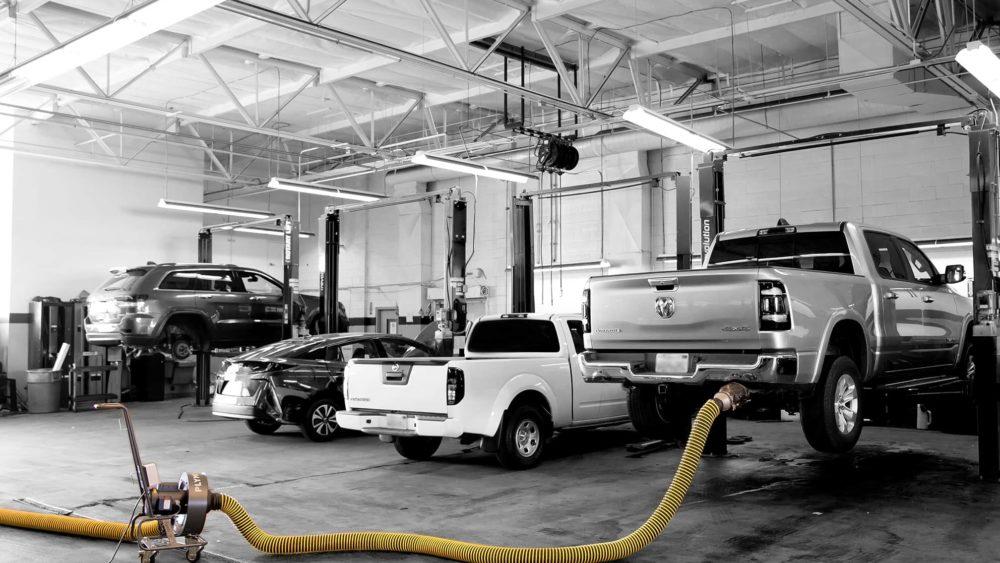 FumeCaddie - Absaugung von Fahrzeugabgasen